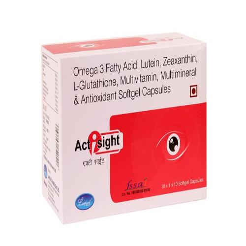 OMEGA-3 FATTY ACID 500 MG + LUTEIN 5 MG + VITAMIN C 150 MG + ZINC SULPHATE 12.5 MG + ELEMENTAL COPPER 1 MG + GLUTATHIONE 5 MG + VITAMIN E 200 IU + ZEAXANTHIN 1 MG