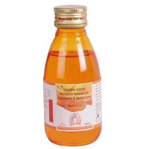 TERBUTALINE SULPHATE 2.5 MG + GUAIPHENESIN 100 MG + BROMHEXINE HYDROCHLORIDE 4 MG + MENTHOL 1 MG FLAVOURED SYRUP BASE