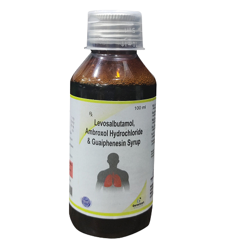 LEVOSALBUTAMOL SULPHATE 1 MG + AMBROXOL HYDROCHLORIDE 30 MG + GUAIPHENESIN 50 MG