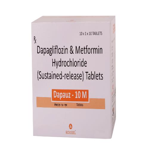 DAPAGLIFLOZIN 10 MG + METFORMIN HYDROCHLORIDE 500 MG (SR)