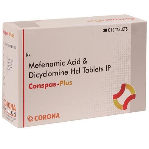 DICYCLOMINE 10 MG + MEFANIMIC  ACID 250 MG