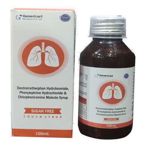 DEXTROMETHORPHAN HYDROBROMIDE 10 MG + CHLORPHENIRAMINE MALEATE 2 MG + PHENYLEPHIRINE HYDROCHLORIDE 5 MG PALATABLE FLAVOURED BASE {SUGAR FREE}