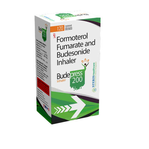 BUDESONIDE 200 MCG + FORMOTEROL FUMARATE DIHYDRATE 6 MCG