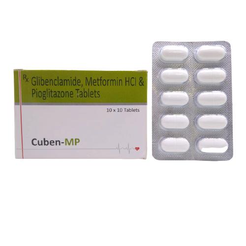 GLIBENCLAMIDE 5 MG + METFORMIN HYDROCHLORIDE 500 MG + PIOGLITAZONE HYDROCHLORIDE 15 MG