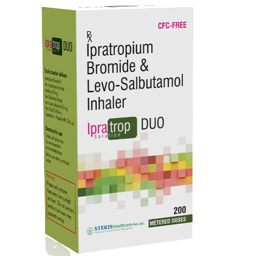 IPRATROPIUM BROMIDE 20 MCG + LEVO-SALBUTAMOL TARTRATE 50MCG