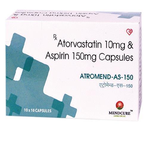 ATORVASTATIN 10 MG + ASPIRIN 150 MG