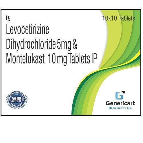 LEVOCETIRIZINE DIHYDROCHLORIDE 5 MG + MONTELUKAST 10 MG
