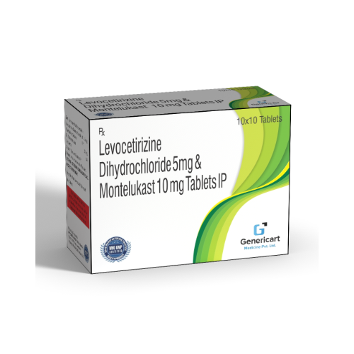 LEVOCETIRIZINE HYDROCHLORIDE 5 MG + MONTELUKAST 10 MG