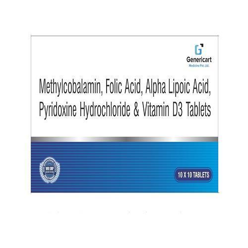 METHYLCOBALAMIN 1500 MCG + ALPHA LIPOIC ACID 100 MG + PYRIDOXINE HYDROCHLORIDE 3 MG + FOLIC ACID 1.5 MG + VIT D3 1000 IU