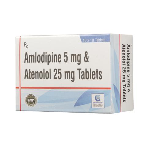 AMLODIPINE 5 MG + ATENOLOL 25 MG