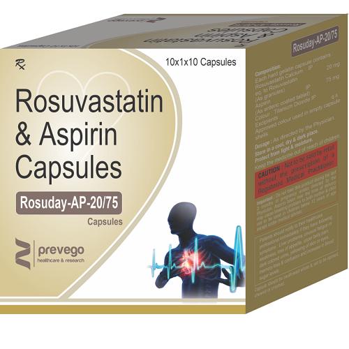 ROSUVASTATIN 20 MG + ASPIRIN 75 MG