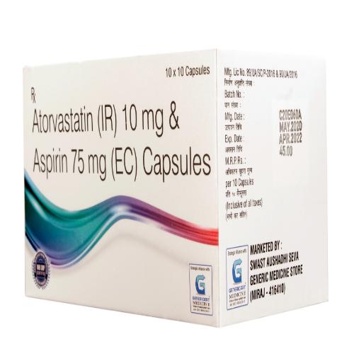 ATORVASTATIN 10 MG + ASPIRIN 75 MG