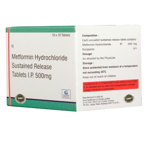 METFORMIN HYDROCHLORIDE 500 MG ( SR )