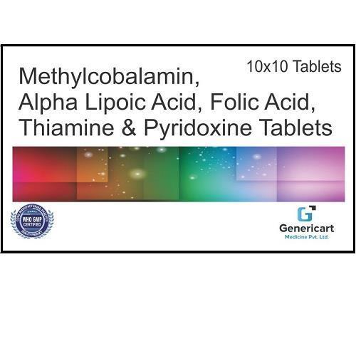 METHYLCOBALAMIN 1500 MCG + ALPHA LIPOIC ACID 100 MG +  FOLIC ACID 1.5 MG + THIAMINE MONONITRATE 10 MG +  PYRIDOXINE HYDROCHLORIDE 3MG