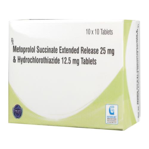 METOPROLOL SUCCINATE ER 25 MG + HYDROCHLOROTHIAZIDE 12.5 MG