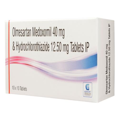 OLMESARTAN MEDOXOMIL 40 MG + HYDROCHLOROTHIAZIDE 12.50 MG