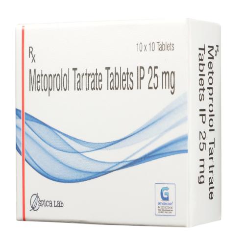 METOPROLOL TARTRATE  25 MG