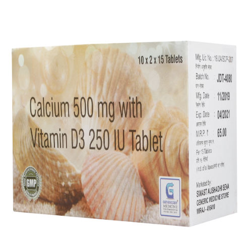 CALCIUM 500 MG + VITAMIN D3 250 IU