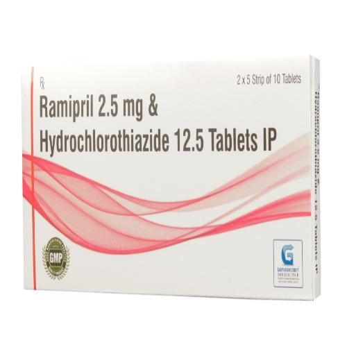 RAMIPRIL 2.5 MG + HYDROCHLOROTHIAZIDE 12.5 MG