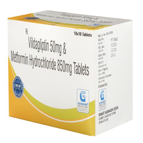 VILDAGLIPTIN 50 MG + METFORMIN HYDROCHLORIDE 850 MG