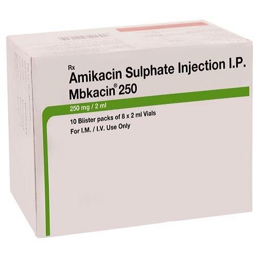 AMIKACIN SULPHATE INJECTION 250 MG 2 ML