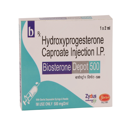 HYDROXYPROGESTERONE IP 500 MG