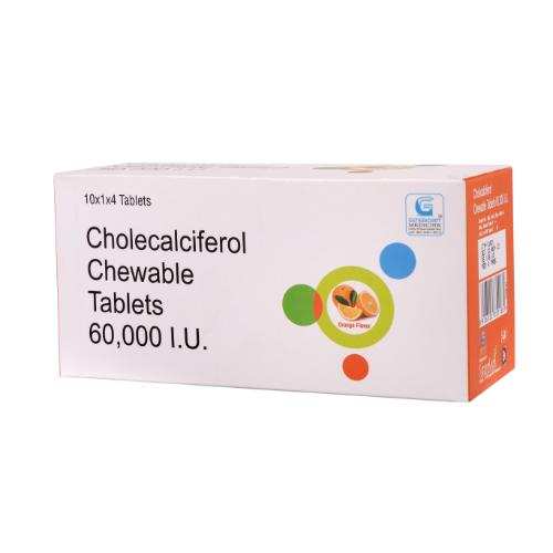 CHOLECALCIFEROL 60000 IU (CHEWABLE)