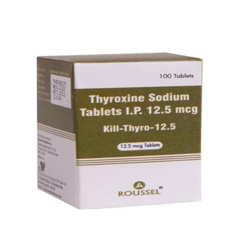 THYROXINE SODIUM 12.5 MCG