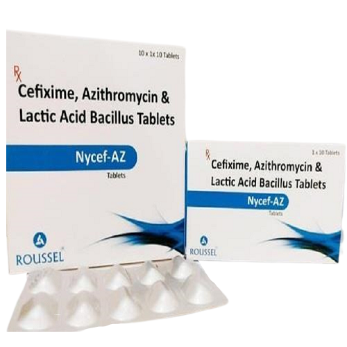 CEFIXIME 200 MG +  AZITHROMYCIN 250 MG + LACTOBACILLUS SPOROGENES 60 MILLION SPORES