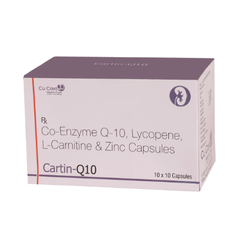 CO-ENZYME Q10 50 MG,L-CARNITINE L -TARTRATE 500 MG,LYCOPEN 2500 MCG ,ZINC SULPHATE MONOHYDRATE 12.5 MG