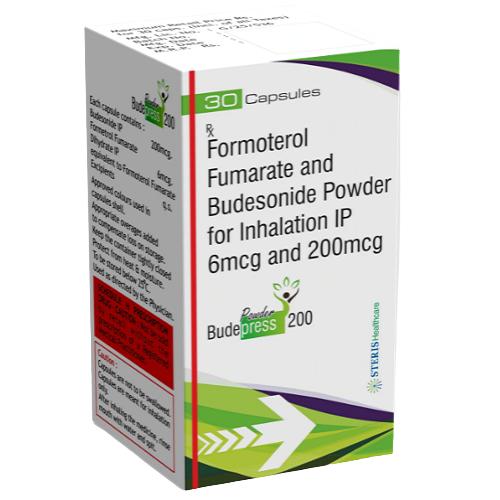 FORMOTEROL FUMARATE 6 MCG + BUDESONIDE IP 200 MCG