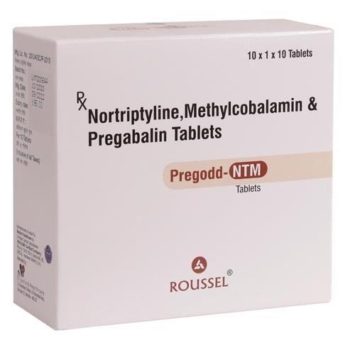 NORTRIPTYLINE 10 MG + METHYLCOBALAMIN 1500 MCG + PREGABALIN 75 MG